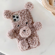 owlcase Cartoon Diamond 3D Bear Plush iphone Cases