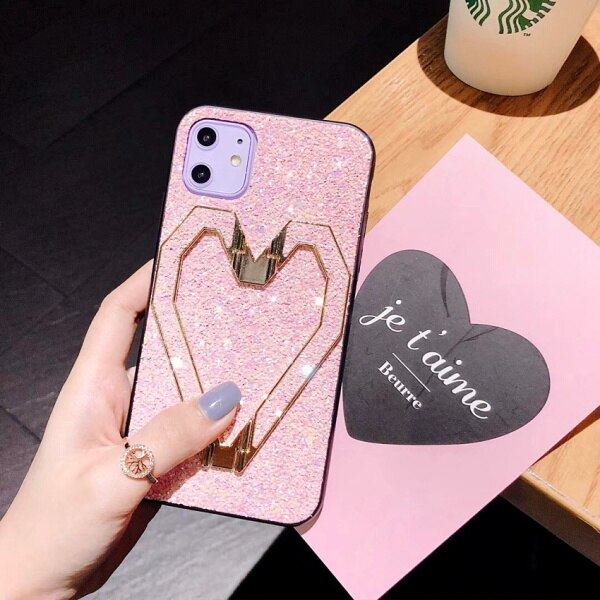 Owlcase 3D Fashion Love Metal Stand iPhone Cases