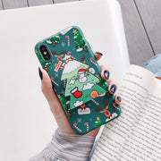 owlcase Luxury 3D Merry Christmas tree elk Santa iphone cases