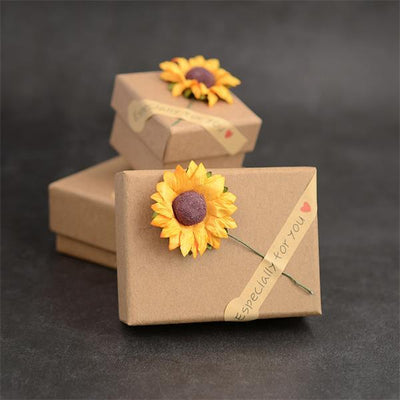 Sunflower Necklace Gift Box