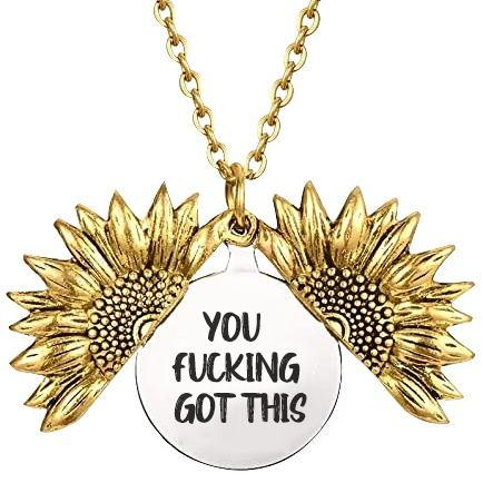 You F*king Got this Sunflower Necklace