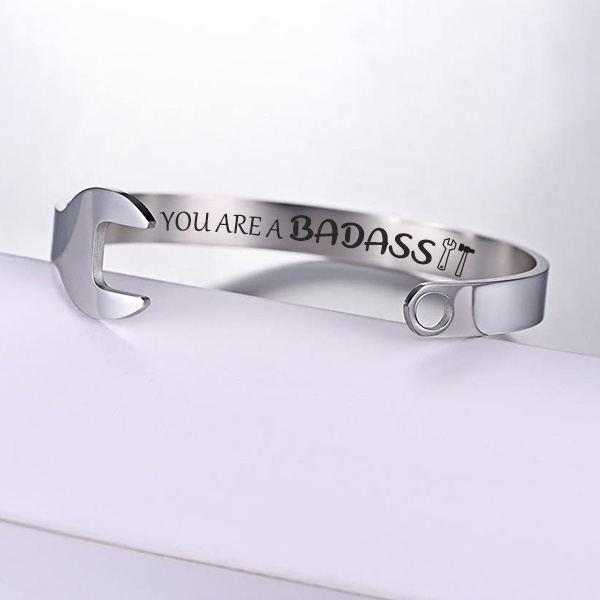 You are A Badass Wrench Cuff Bracelet