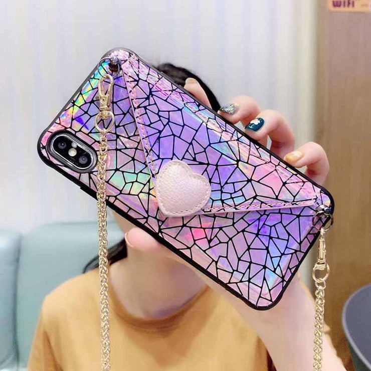 Fashion Simple Wallet Style Messenger iPhone Cases