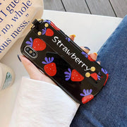 Cute Strawberry Wrist Strap iPhone Cases