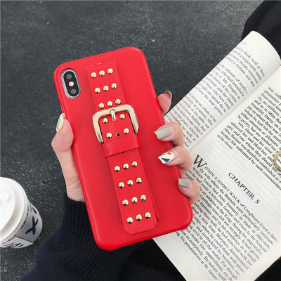 Luxury Beads Wrist Strap iPhone Cases