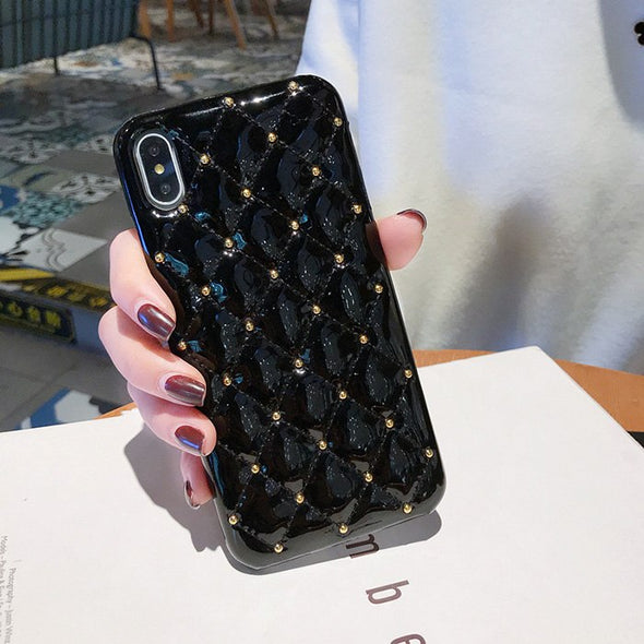Luxury Cute Glitter Leather iPhone Cases