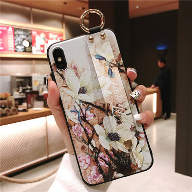 owlcase Retro Floral Wrist Strap iPhone Cases
