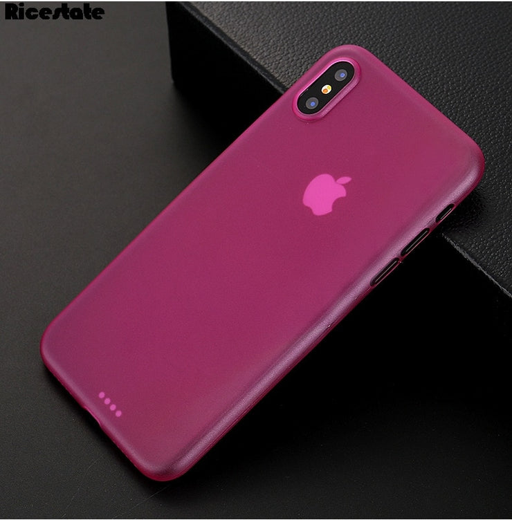 0.3mm Ultra Thin frosted Case Matte Plastic Back Cover Case