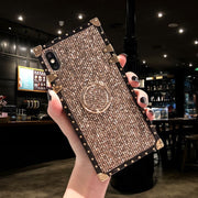 Luxury Bling Glitter Ring Stand iPhone Cases