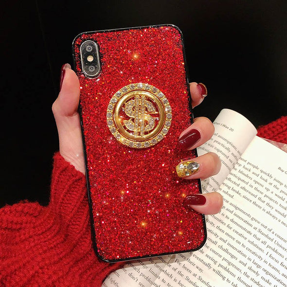 Bling Bumper Rotatable Stand iPhone Cases