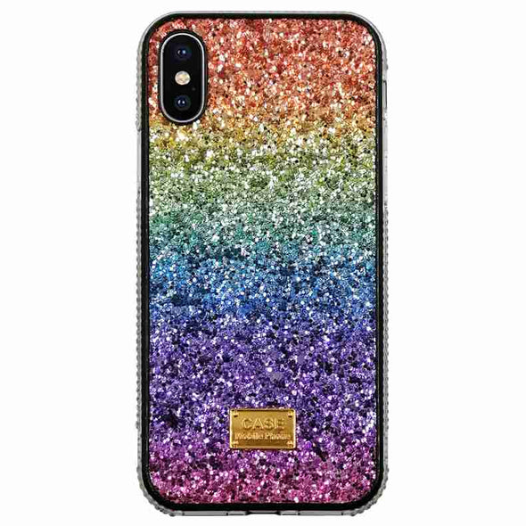 C Shiny Sequins Ring Stand Girly Rainbow Summer Cases