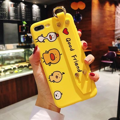 Cartoon Duck With Strap Holder iPhone Case