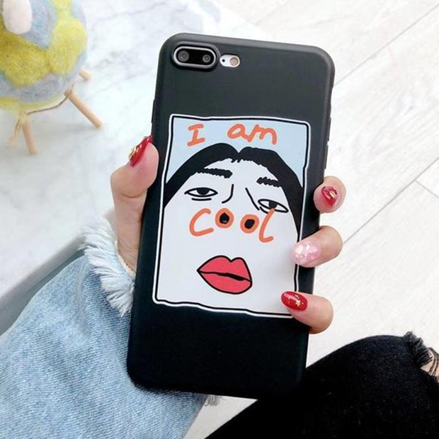 Cartoon Narcissism Ugly Man Selfie Soft Back Case