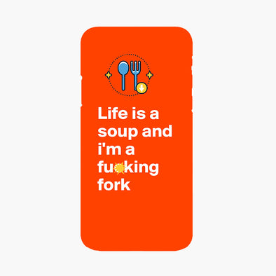 "Buy 2 Get 10% OFF - Owlcase ""life is a soup and i'm a fucking fork"" iPhone Cases"