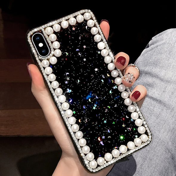 Luxury Pearl Diamond iPhone Cases