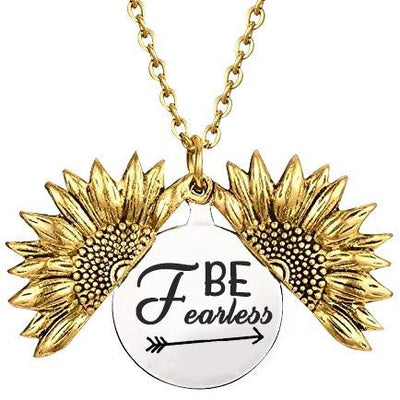 Be Fearless in the Pursuit of...Necklace - Slim Arrow