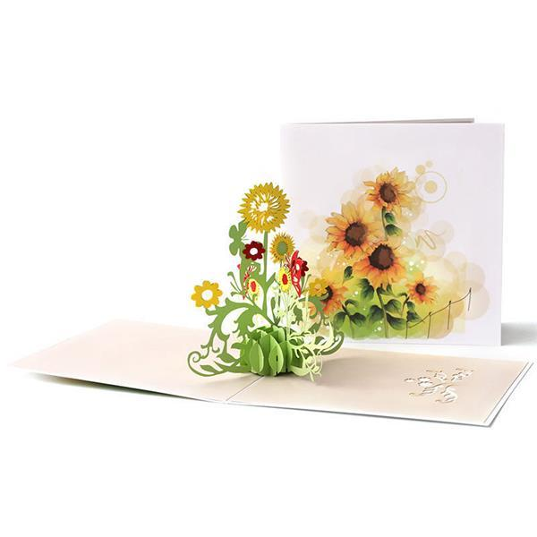 Tridimensional Sunflower Gift Card