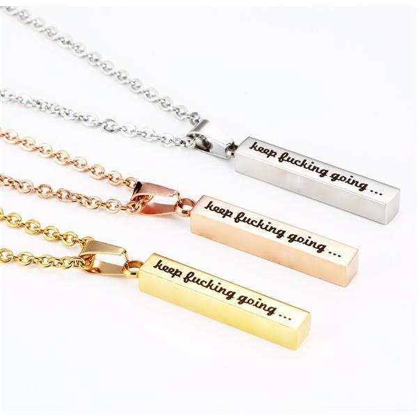 Keep F Going Cuboid Necklace
