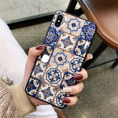 Ethnic Style Flower Gold Foil Case
