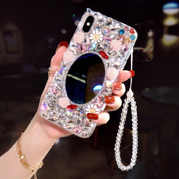 Owlcase Rhinestone Bling Diamond Makeup Iphone Cases