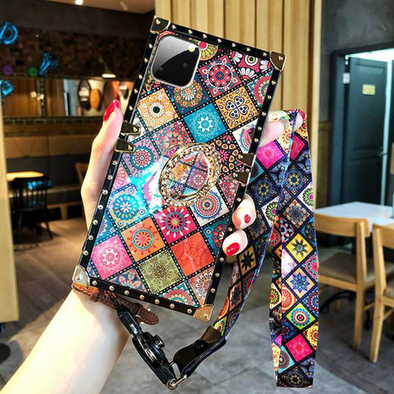 High Quality Bohemian Lanyard Ring Phone Case