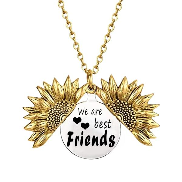 We are Best Friends because...Sunflower Necklace