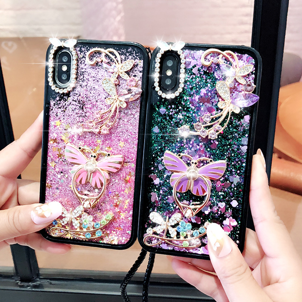 Flower Love Heart Liquid Silicone phone cases