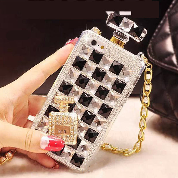 Rhinestone Diamond Perfume Bottle Crystal iPhone cases