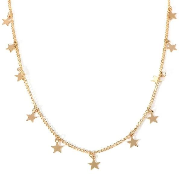 Star Decorated Chain Choker