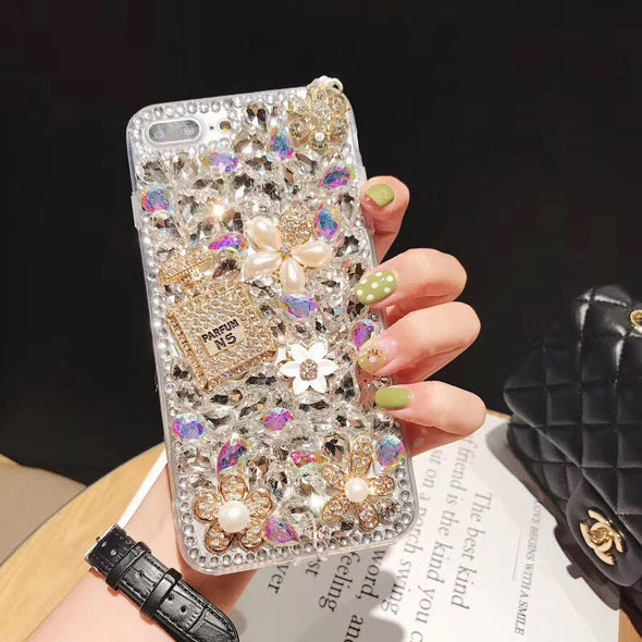 Colorful Pearl Diamond Bling iPhone Cases
