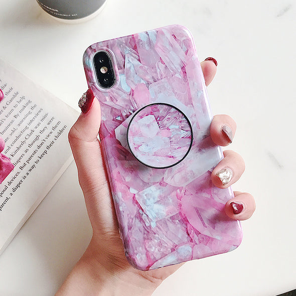 owlcase Fashion Marble Pop Stand iPhone Cases