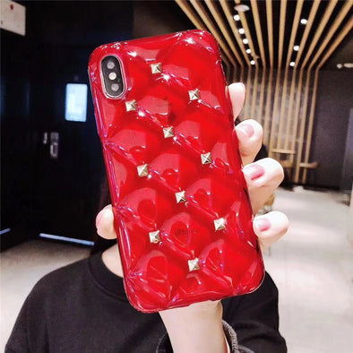 Luxury Glossy High Quality Leather iphone Cases