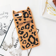 Cartoon Cat Ear Fur Ball iPhone Case