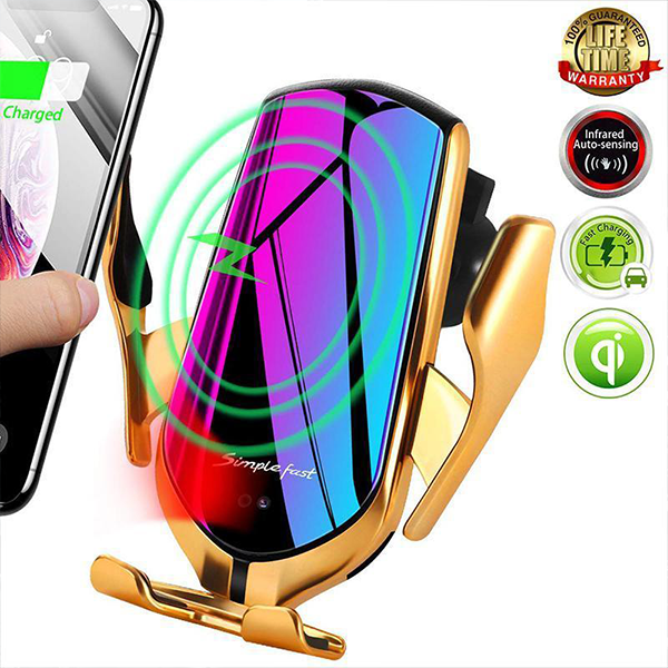 ( 50% OFF) Wireless Automatic Sensor Car Phone Charger & Holder