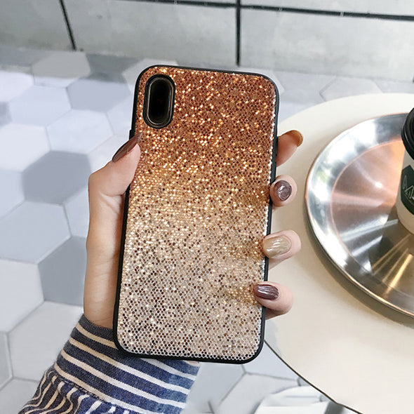 Fashion Shinny Glitter  Gradient iPhone case