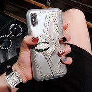 Fashion Crystal Bracket Function iPhone Cases
