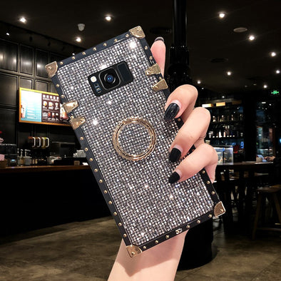 OWLCASES Luxury Bling Glitter Squared Samsung Cases