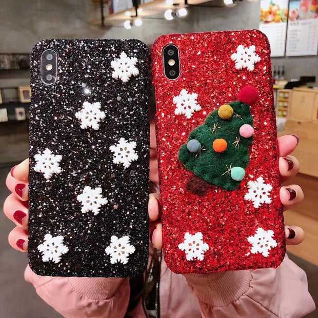 owlcase Fashion Christmas Gifts Glitter iPhone Cases