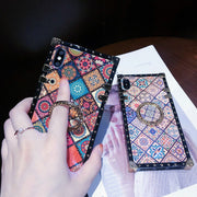 Luxury Vintage Ethnic Style Totems Square iPhone Case