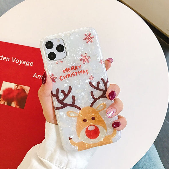 Owlcase Cartoon Merry Christmas deer  For iPhone 11/pro/max  cases