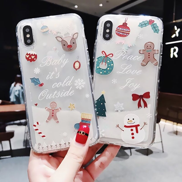 Glitter Liquid Christmas iPhone Cases