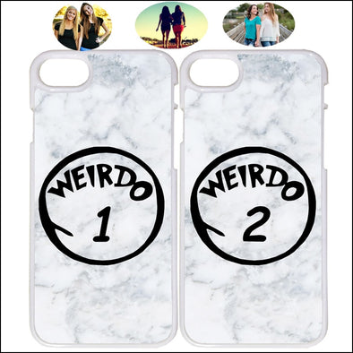 Buy 2 Get 10% OFF - Best Friends Weirdo Marble iPhone Case