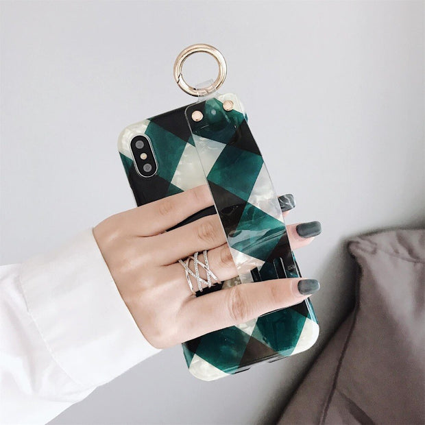 OWLCASE Rhombus Style Wrist Strap iPhone Cases
