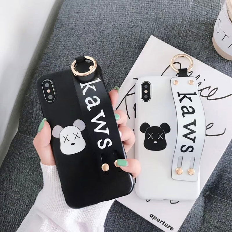 Owlcase Fashion Bear Wrist Strap iPhone Cases