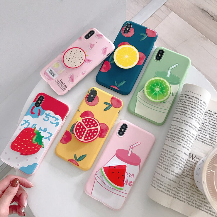 Fshion Fruit Drinks Silicone iPhone Cases