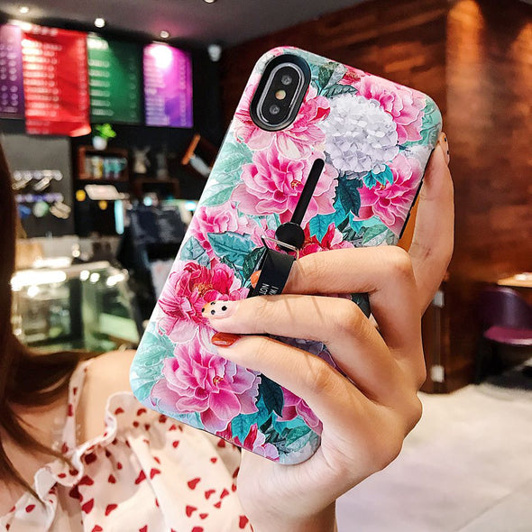 Fashion Flower Floral Leaf Silicon iPhone Cases