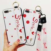 Luxury Fashion Smile Love Soft iPhone Case with Lanyard