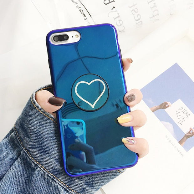 Fashion Blue Ray Pop Satnd iPhone Cases