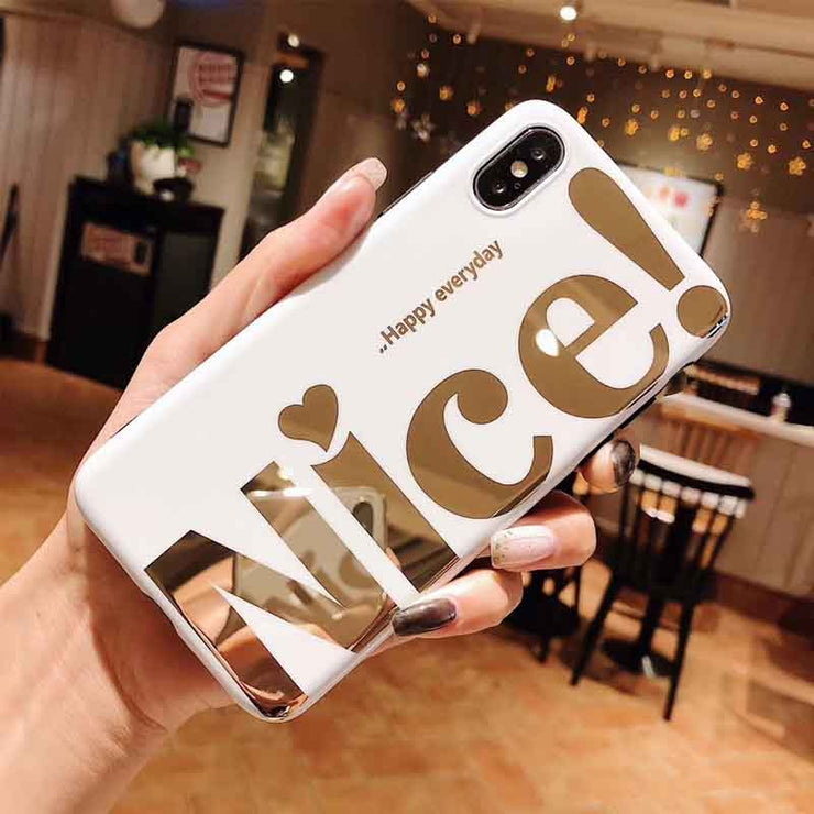 Rich Nice Personality Text iPhone Case