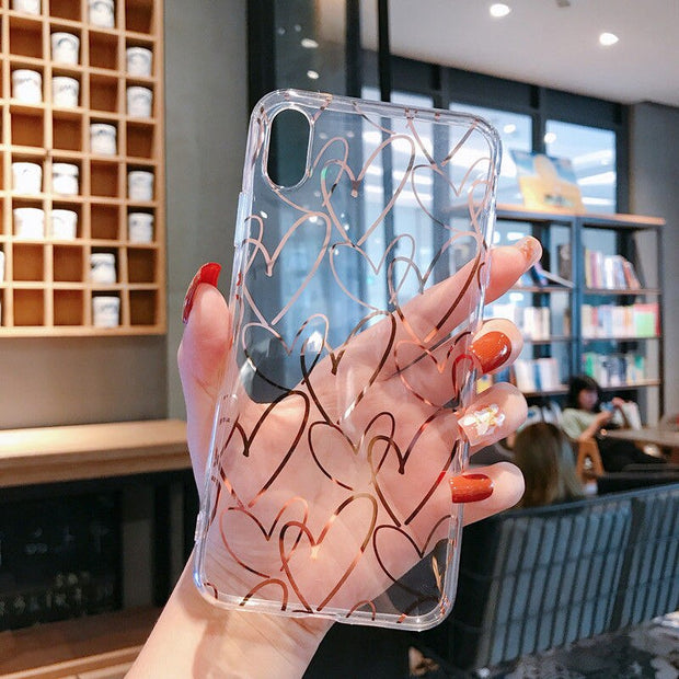Transparent Love Heart Cases